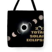2017 Total Solar Eclipse Phases Tote Bag
