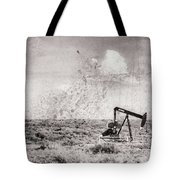 2017_06_lamesa Tx_pump Jack Windmill 3 Textured And Aged Tote Bag