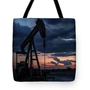 2017_08_midkiff Tx_sunset Pump Jack 7 Tote Bag