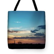 2017_09_midkiff Tx_rigs At Sunset 1 Tote Bag