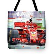 2018 Australian Gp Ferrari Sf71h Vettel Winner  Tote Bag