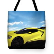 2018 Ford Gt At The Track Tote Bag