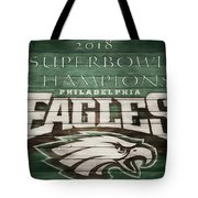 2018 Superbowl Eagles Barn Wall Tote Bag