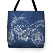 2018 Yamaha Mt07,blueprint,blue Background,fathers Day Gift, 2018 Tote Bag