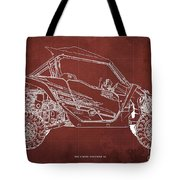 2018 Yamaha Wolverine X4 Blueprint Red Background Gift For Him Tote Bag