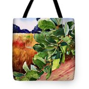 #203 Blue Oak Leaves 2 Tote Bag