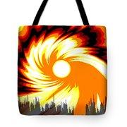 205 - Poster Climate Change  2 ... Burning Summer  Sun  Tote Bag