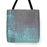 Blue Metal Tote Bag