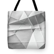 White Folded Paper Tote Bag