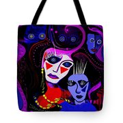 215   Mother And Child  Clowns A  Tote Bag