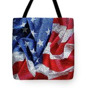 American Flag 40 Tote Bag