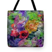 21a Abstract Floral Painting Digital Expressionism Tote Bag