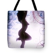 Neemah African American Nude Girl Photograph In Sexy Sensual Col Tote Bag