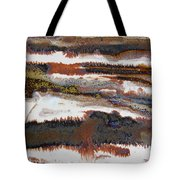 22. V2 Rustic Brown, Red And White Glaze Painting Tote Bag