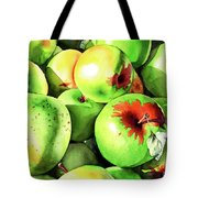 #227 Green Apples Tote Bag