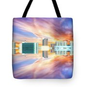 22nd Century Floating Cities Sunrise 01 Tote Bag