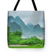 Karst Mountains Rural Scenery Tote Bag