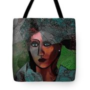239 - Young Woman In Green Dress 2017 Tote Bag