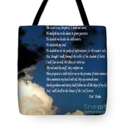 23rd Psalm Tote Bag
