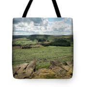 Beautiful Vibrant Landscape Image Of Burbage Edge And Rocks In S Tote Bag