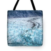 Sawyer Glacier At Tracy Arm Fjord In Alaska Panhandle Tote Bag