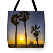 Sunset In Santa Monica, California, Usa Tote Bag