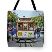 2416- Cable Car Tote Bag