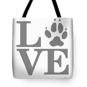 Love Claw Paw Sign Tote Bag