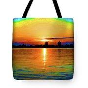 25- Psychedelic Sunrise Tote Bag
