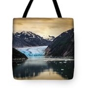 Sawyer Glacier At Tracy Arm Fjord In Alaska Panhandle Tote Bag
