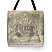 25-year Reign Of William IIi King Of The Netherlands, In 1874, Anonymous, After Hendrik Jan Van Lumm Tote Bag