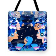 2547 Listen To The Music V Tote Bag