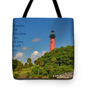 255- Becca Lee - Jupiter Lighthouse Tote Bag