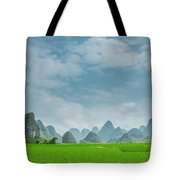 The Beautiful Karst Rural Scenery Tote Bag