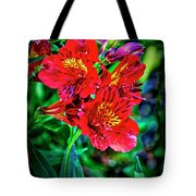 2647- Red Flowers Tote Bag