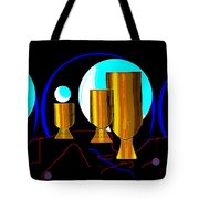 2664 Golden Goblets Patterns 2018 Tote Bag