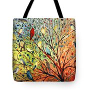 27 Birds Tote Bag