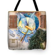 Mural Painting In Saludecio Tote Bag