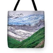 Glacier And Mountains Landscapes In Wild And Beautiful Alaska Tote Bag