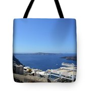 28 September 2016 White Houses By The Sea In Santorini, Greece  Tote Bag