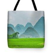 The Beautiful Karst Rural Scenery Tote Bag