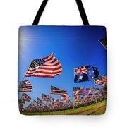Pepperdine Flag Salute Tote Bag