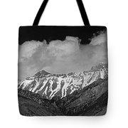 2d07509-bw High Peaks In Lost River Range Tote Bag