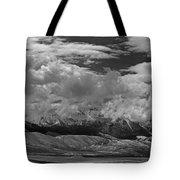 2d07517-bw Storm Over Lost River Range Tote Bag