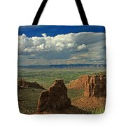 2d10338 Thunderhead Over Independence Monument Tote Bag