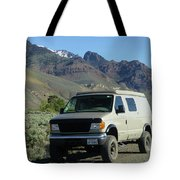 2da5944-dc Our Sportsmobile At Steens Mountain Tote Bag