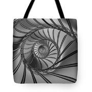 2x1 Abstract 434 Bw Tote Bag