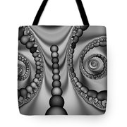 2x1 Abstract 438 Bw Tote Bag