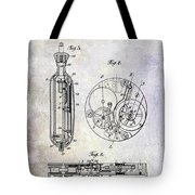 1913 Pocket Watch Patent Tote Bag