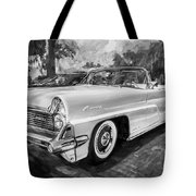 1959 Lincoln Continental Town Car Mk Iv Painted Bw   Tote Bag